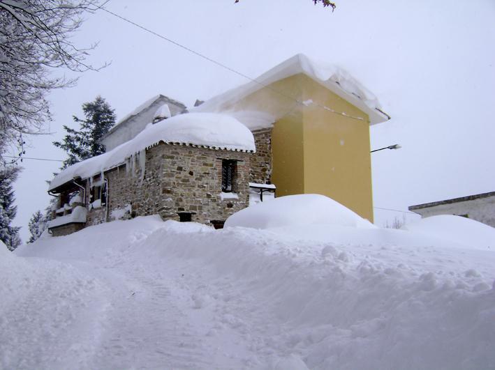 ancora la Lancia sotto la neve